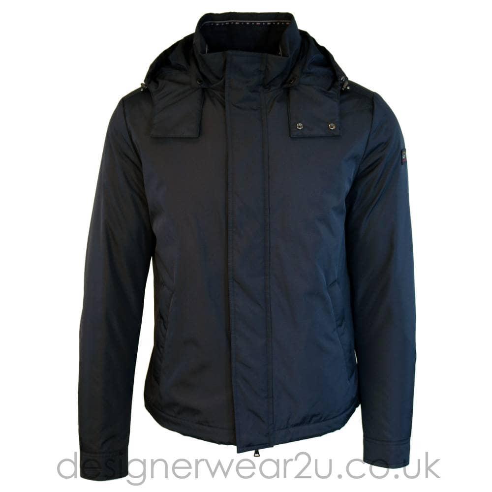 high fashion amazing price really comfortable Paul & Shark Paul & Shark Lightly Padded Navy Hooded Jacket