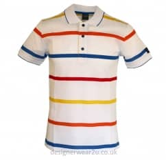 Paul & Shark Multi Stripe Shark Fit Polo