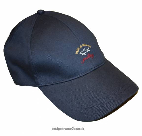 paul and shark baseball hat navy cap image fin
