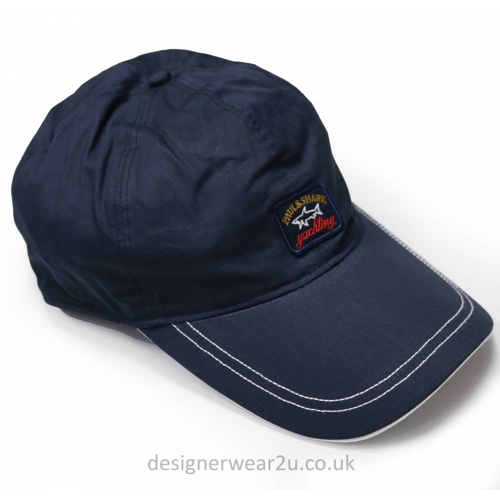 Paul   Shark Navy Cap With Embroidered Logo Badge - Gift Ideas from ... 840a0c3eb5c2