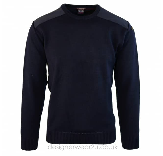 Paul & Shark Paul & Shark Navy Classic Wool Crewneck