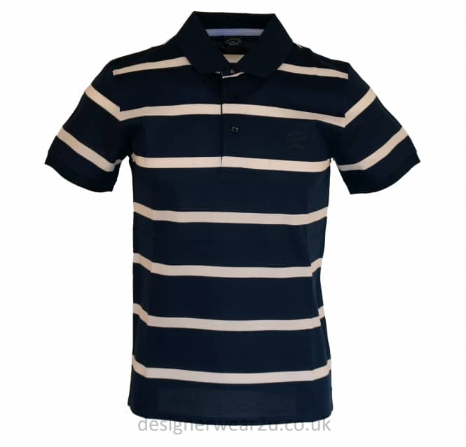 Paul & Shark Paul & Shark Navy Shark Fit Striped Polo