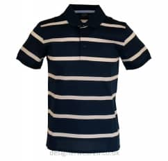 Paul & Shark Navy Shark Fit Striped Polo