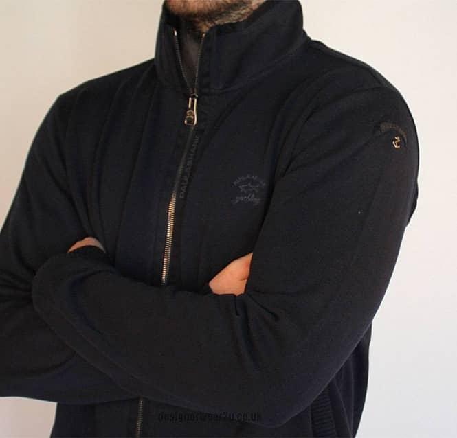 Paul   Shark Navy Watershed Full Zipper in Shark Fit - Knitwear from ... 5408079e5132
