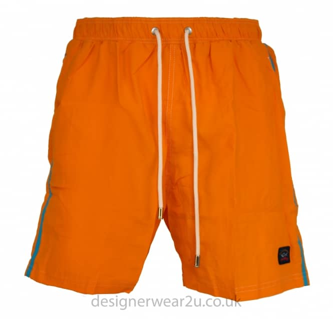 Paul & Shark Paul & Shark Orange Shorts With Contrast Stripe