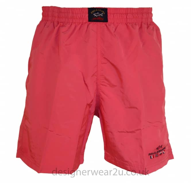Paul & Shark Paul & Shark Pink Shorts With Embroidered Logo