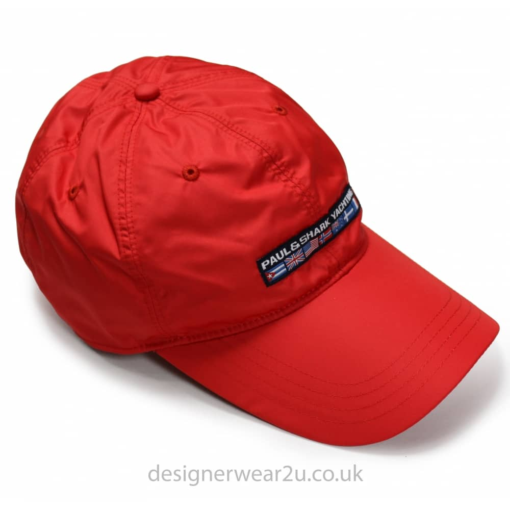 f5e52f9b7dd Paul   Shark Red Cap With Embroidered Flag Logo - Gift Ideas from ...