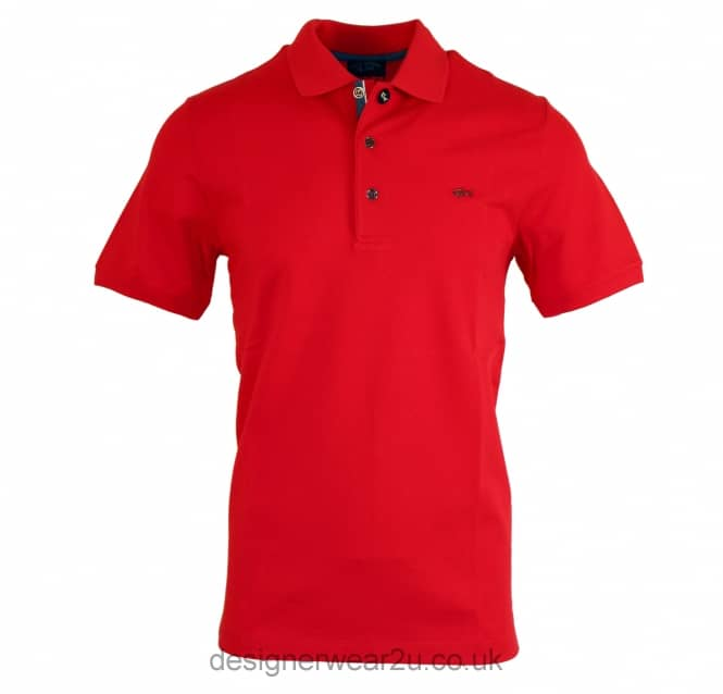 Paul & Shark Paul & Shark Red Regular Fit Polo With Metal Logo