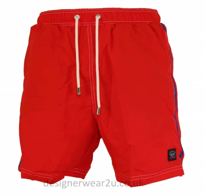 Paul & Shark Paul & Shark Red Shorts With Contrast Stripe