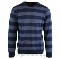 Paul & Shark Regular Fitting Blue Striped Jumper