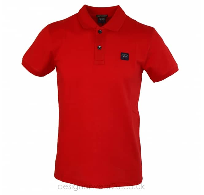Paul & Shark Paul & Shark Short Sleeve SHARK FIT Polo in Red