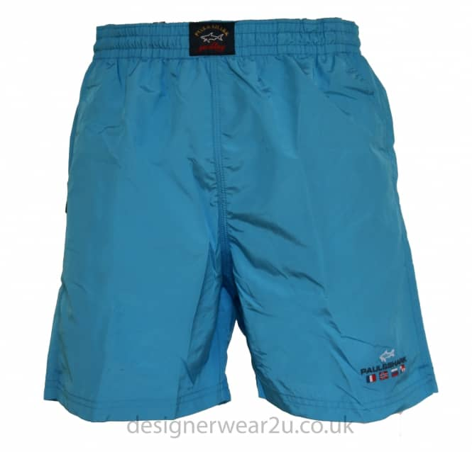 Paul & Shark Paul & Shark Turquoise Shorts With Embroidered Logo