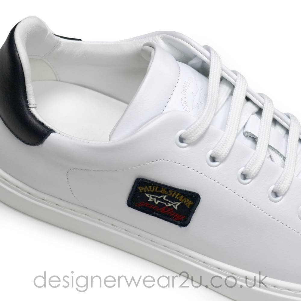Paul \u0026 Shark White Leather Trainers