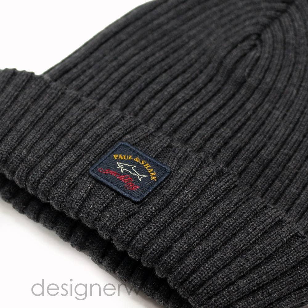 646962e2 Paul & Shark Wool Beanie Hat in Grey - Headwear from DesignerWear2U UK