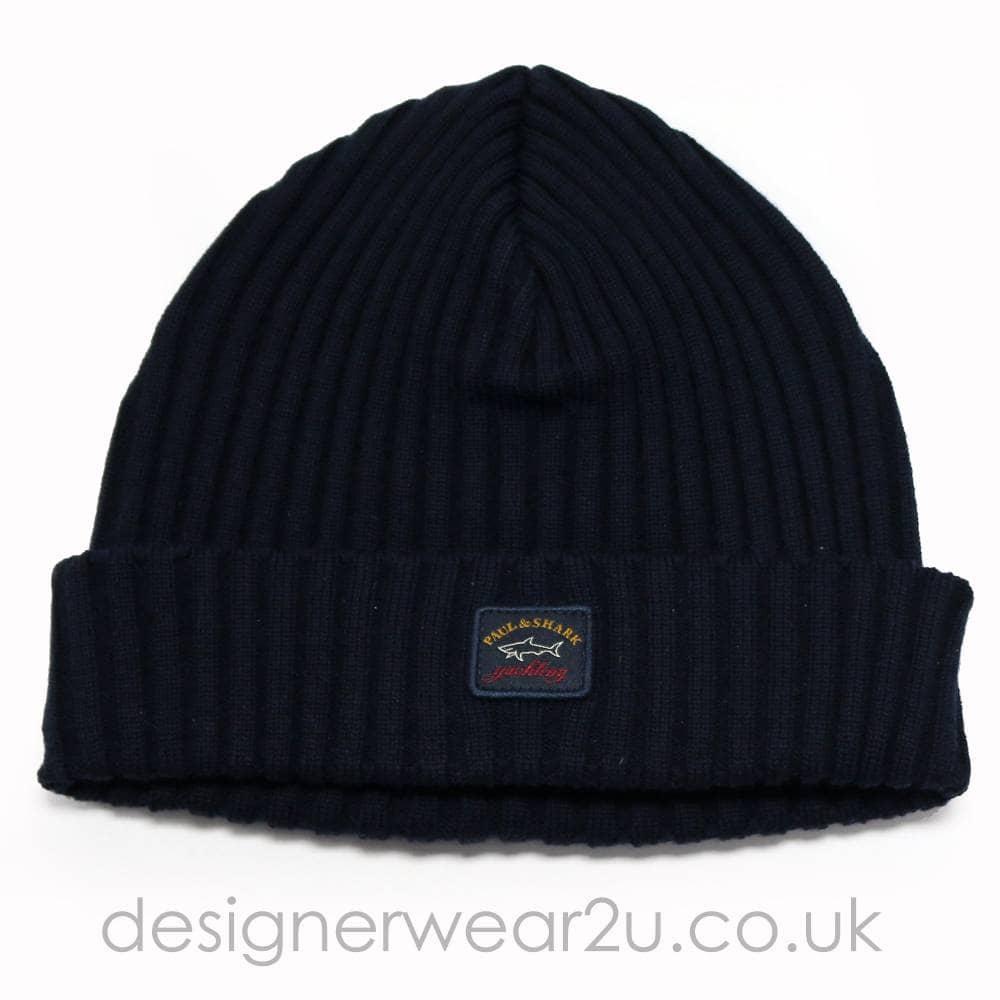 8e0fb10f7947af Paul & Shark Wool Beanie Hat in Navy - Hats from DesignerWear2U UK