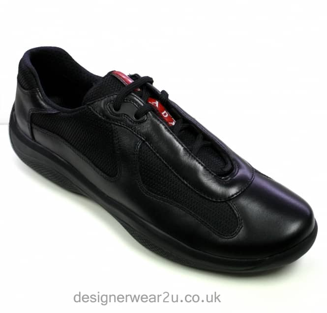 a8fca8fe5b3f6 Prada Americas Cup Lace Up Trainers in Black - Footwear from ...