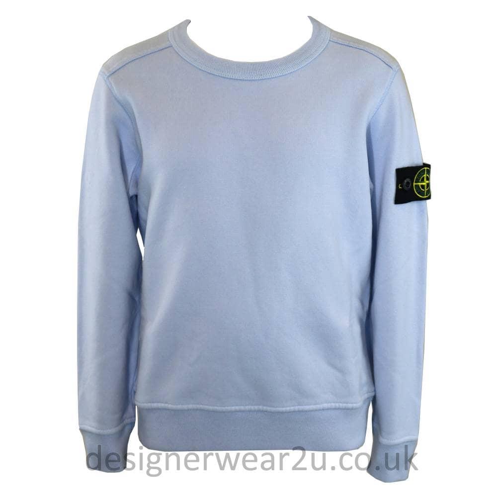 S I Junior Crewneck Sweatshirt In Ice Kids Collection From