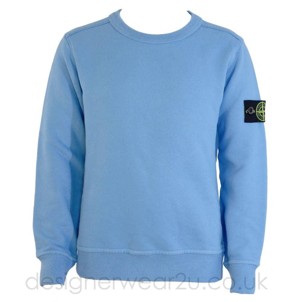 S I Junior Crewneck Sweatshirt In Sky Kids Collection From