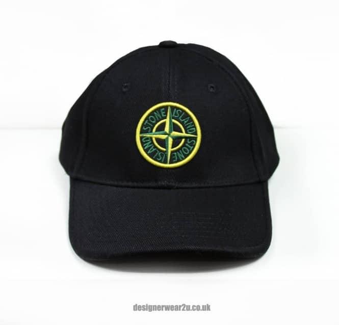 d3a898b777ae6 S.Island Stone Island Black Baseball Cap With Embroidered Logo ...
