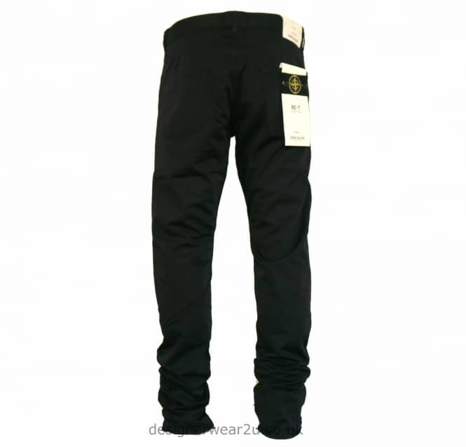Stone Island Stone Island Black Cotton Regular Tapered Jeans