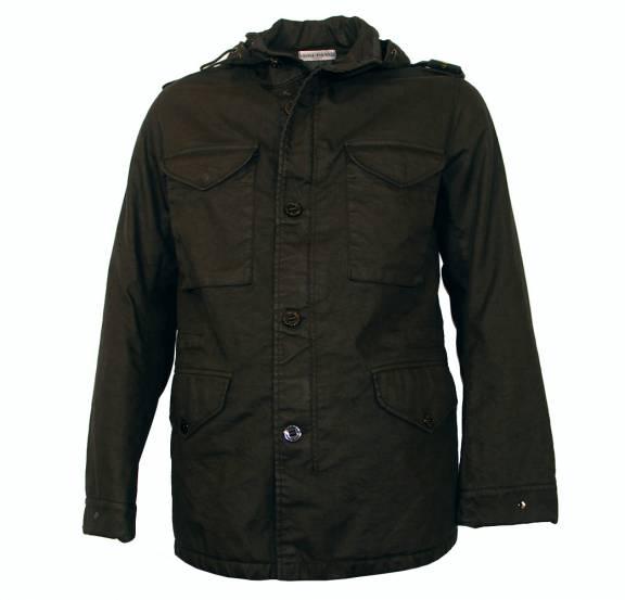 S Island Stone Island Black Jacket With Shoulder Patch