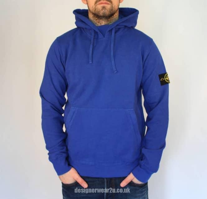 Island Blue Pull Over Style Hooded Sweatshirt