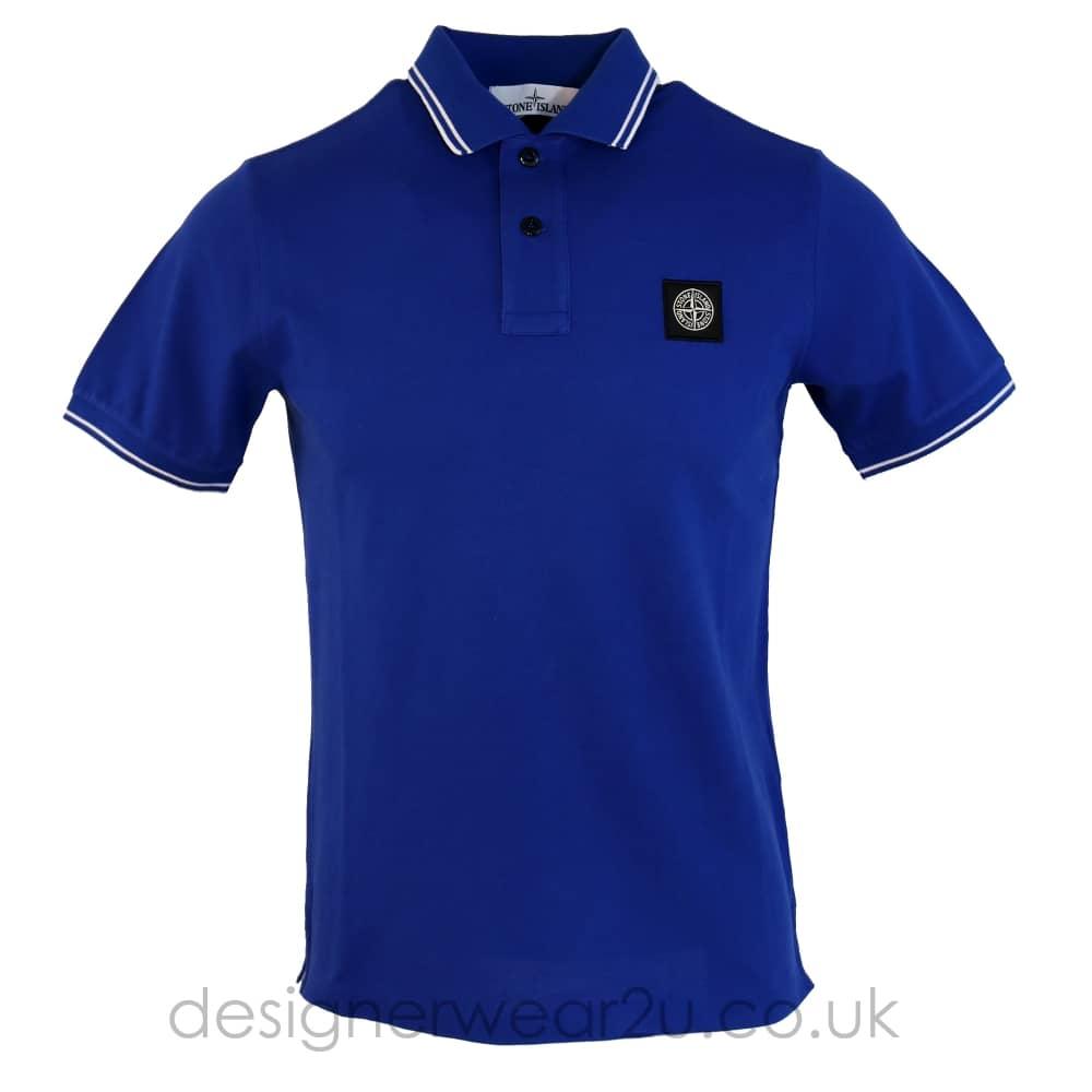 e7fa7ad3ca3 S.Island Stone Island Blue Slim Fitting Polo Shirt - Holiday Shop ...