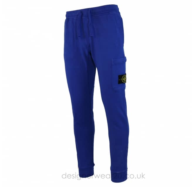 Stone Island Stone Island Cotton Slim Fit Joggers in Blue