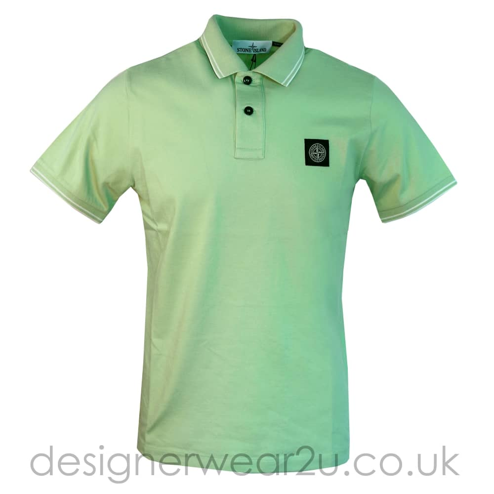 Sland Stone Island Green Slim Fitting Polo Shirt Holiday Shop