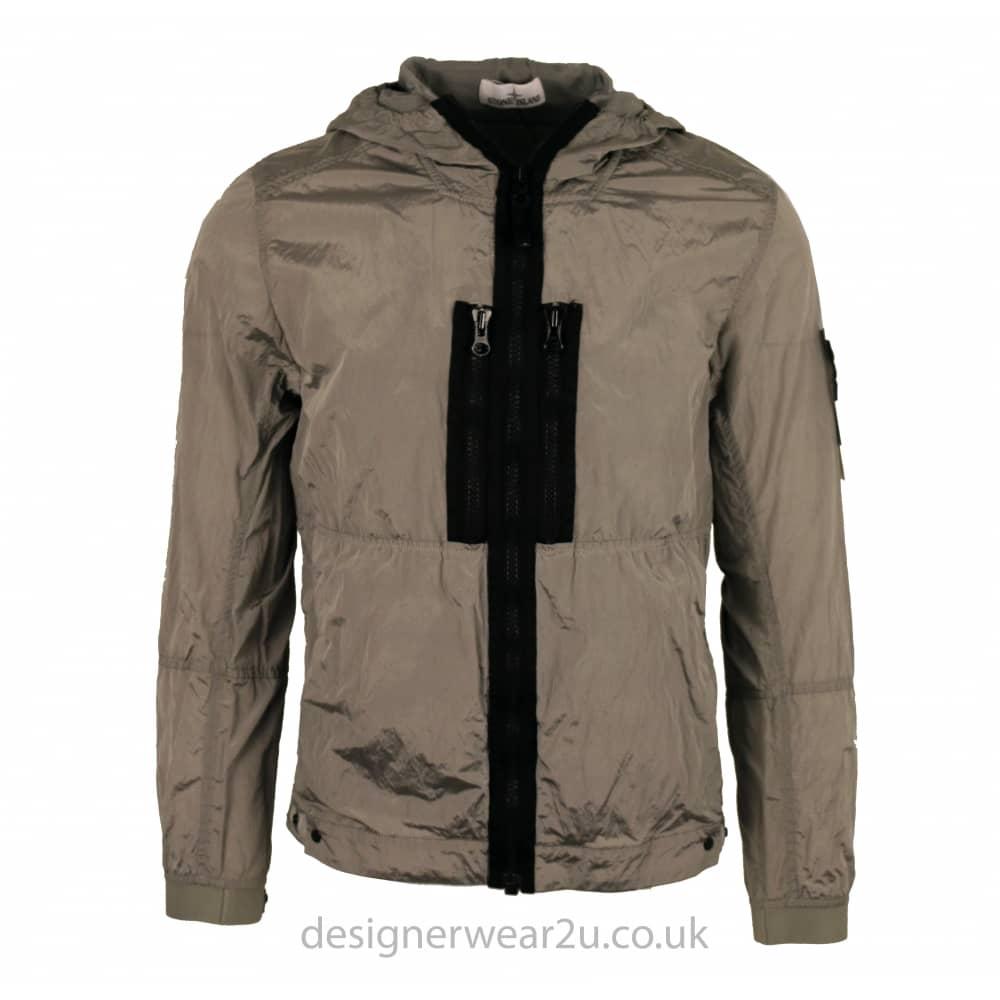 8d6adbce4 S.Island Stone Island Grey Nylon Metal Hooded Jacket