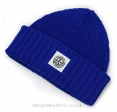 Stone Island Junior Blue Wool Mix Beanie Hat