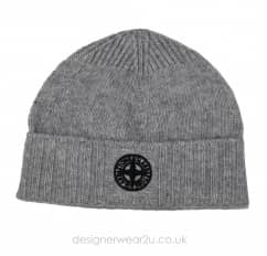 Stone Island Junior Grey Wool Mix Beanie Hat N04A6
