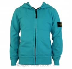Stone Island Junior Hooded Sweatshirt in Turquoise
