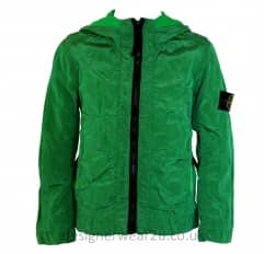 Stone Island Junior Metallic Shell Jacket in Green