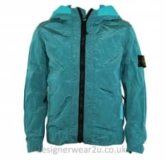 Stone Island Junior Metallic Shell Jacket in Turquoise