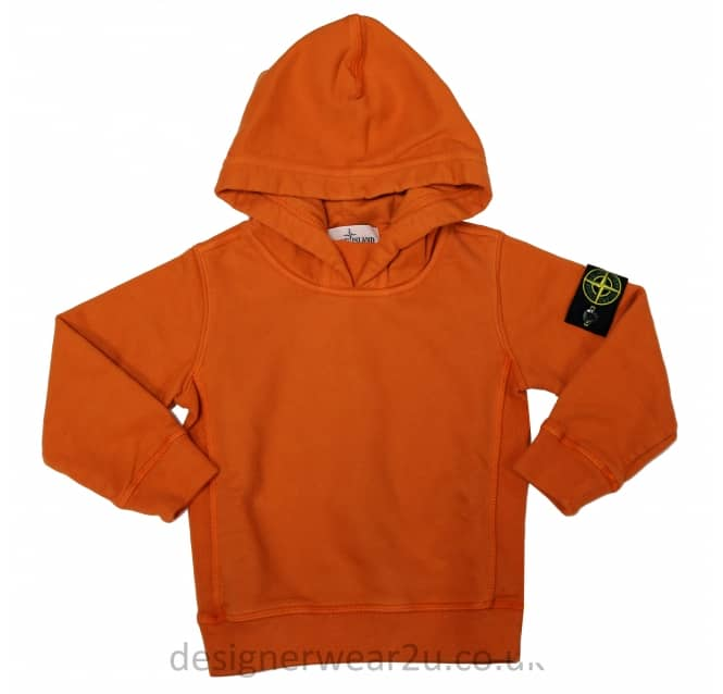 Stone Island Junior Stone Island Junior Overhead Hooded Sweatshirt Orange