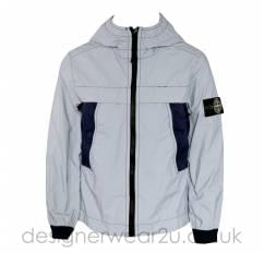 Stone Island Junior Plated Reflective Jacket in Marine