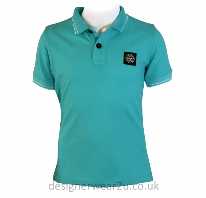 Stone Island Junior Stone Island Junior Polo Shirt in Turquoise