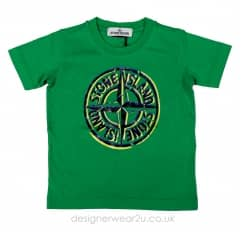 Stone Island Junior Printed Logo T-shirt in Green