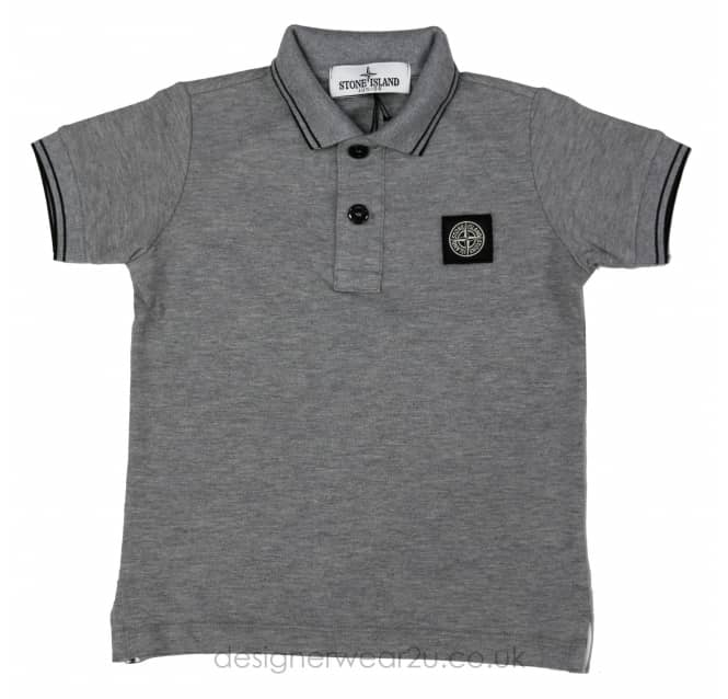 Stone Island Junior Stone Island Junior Short Sleeved Polo in Grey