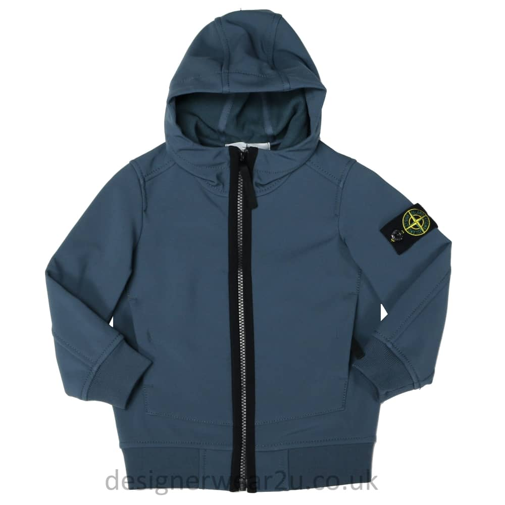 low priced 83759 1033e S.I Junior Stone Island Junior Soft Shell Jacket in Avio