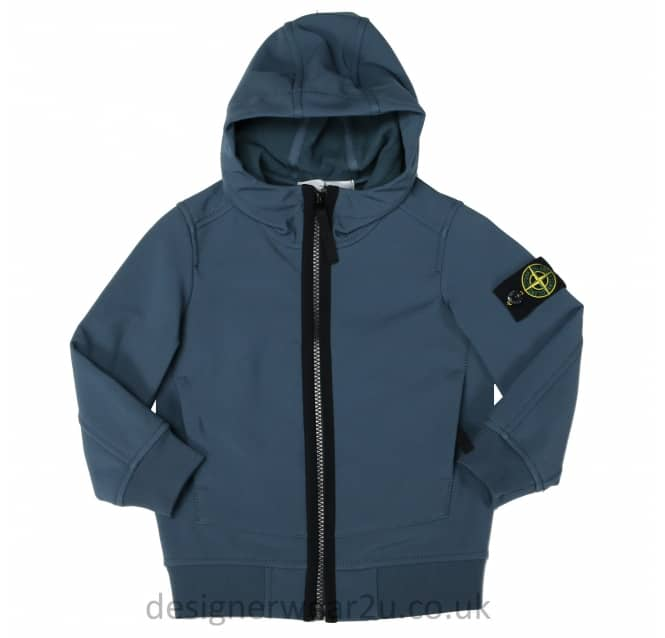 Stone Island Junior Stone Island Junior Soft Shell Jacket in Avio
