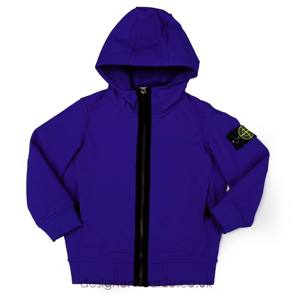 S I Junior Stone Island Junior Soft Shell Jacket In Blue