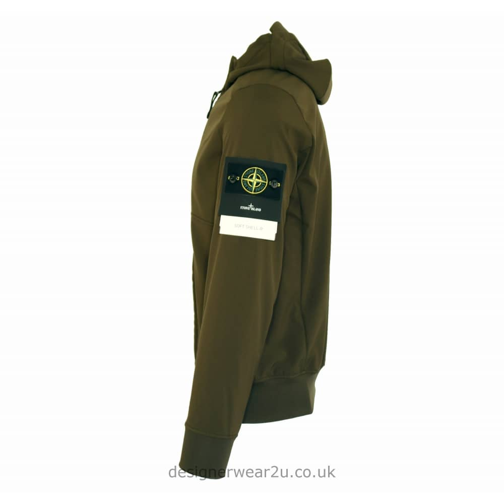 21e6b880ff S.Island Stone Island Khaki Soft Shell Hooded Jacket - Jackets from ...