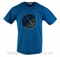 Stone Island Large Compass Print T-Shirt in Blue