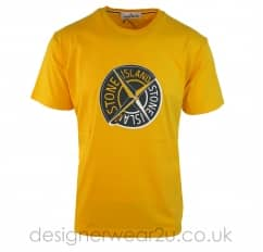 Stone Island Large Compass Print T-Shirt in Yellow