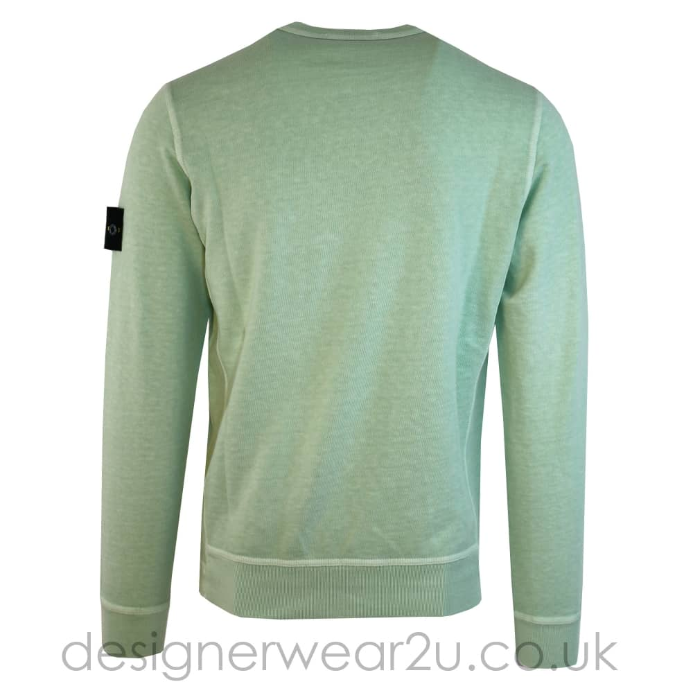 Stone Island Light Green Crew Neck Cotton Sweatshirt