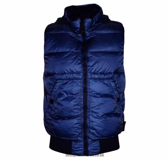 s island stone island lightweight blue down gilet jackets from