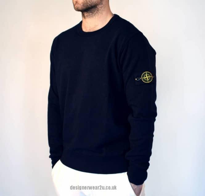 Stone Island Navy Crewneck Sweatshirt