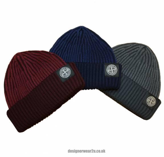 S.Island Stone Island Navy Wool Beanie Hat - Hats from DesignerWear2U UK a33b296b08f